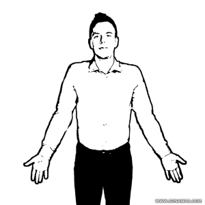 body language The Shrug
